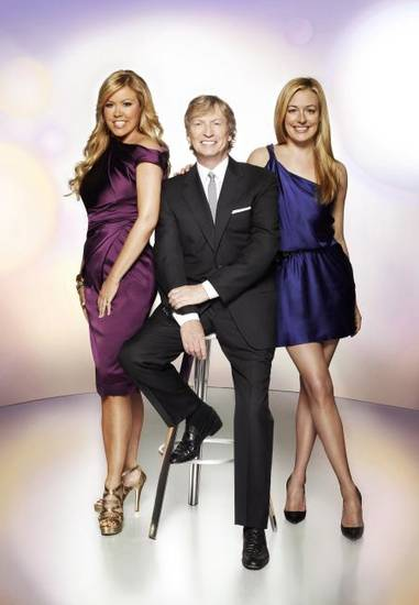 From left, Mary Murphy, Nigel Lythgoe and Cat Deeley of &quot;So You Think You Can Dance&quot; - Fox Photo