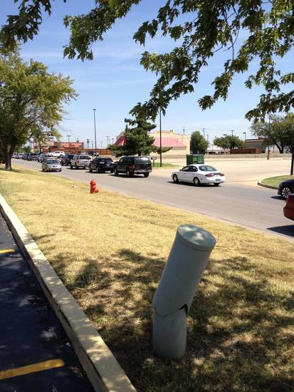 Chick-fil-A on I-240 in South OKC at lunch.   (by SMR, Mustang)