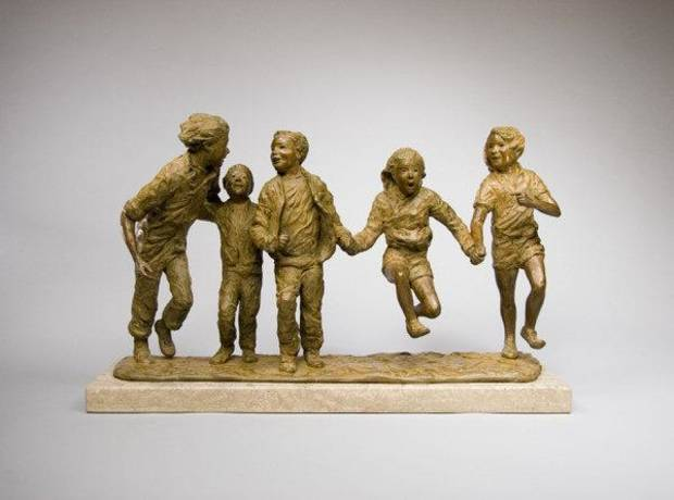 "On display through June 30 at JRB Art at The Elms is ""Jump for Joy,"" a sculpture by Glenna Goodacre. <strong>Matt Suhre Photography</strong>"