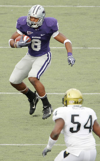 Kansas State running back Daniel Thomas leads the Big 12 with 814 rushing yards and nine touchdowns. AP PHOTO