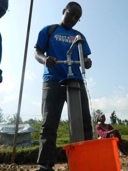 Thunder Fever reaches Rwanda as @rwandans4water finish a water well wearing Thunder� gear! (via @water4)