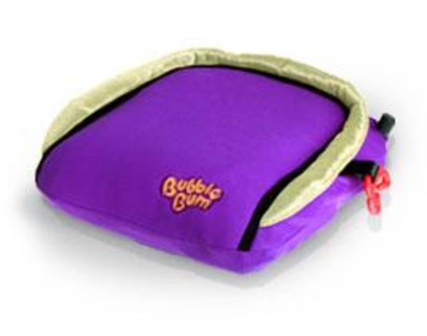 The inflatable Bubblebum booster seat