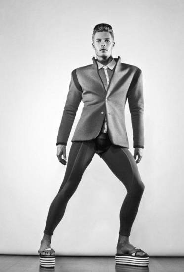 Meggings might be coming to a menswear retailer near you. Photo features fashions by Thane Williams for Stiaan Louw, provided. <strong></strong>