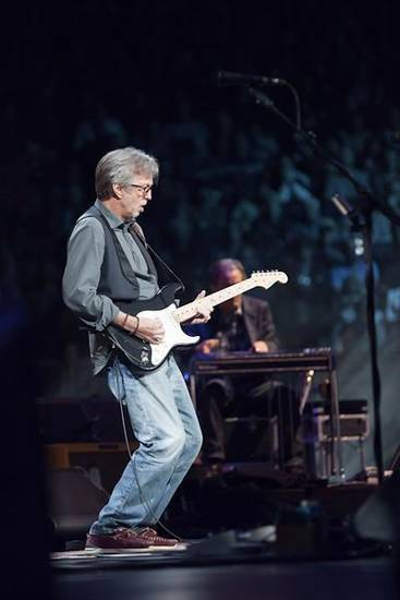 Eric Clapton performs at the 2013 Crossroads Guitar Festival.