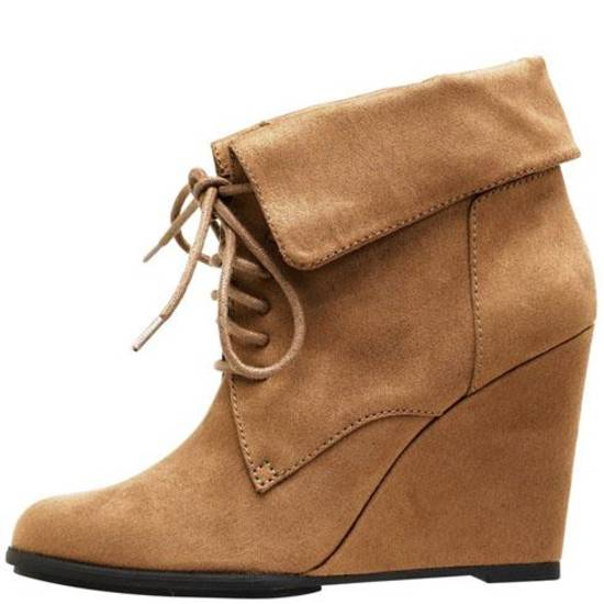 Fioni from Payless faux suede wedge, $29.99.