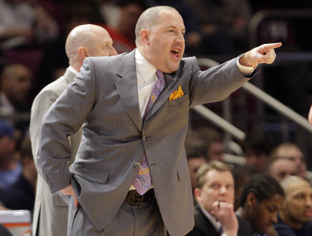 Marquette's Buzz Williams seems to be a popular early name in the search for OU's next men's basketball coach. AP photo