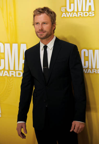 Dierks Bentley arrives at the 46th annual Country Music Awards at the Bridgestone Arena on Nov. 1 in Nashville, Tenn. (Photo by Chris Pizzello/Invision/AP) <strong>Chris Pizzello - Chris Pizzello/Invision/AP</strong>