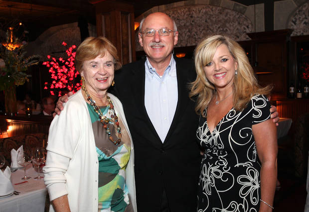 Kay Goebel, James Pickel and Deborah McAuliffe-Senner attend an Allied Arts dinner at Deep Fork restaurant.