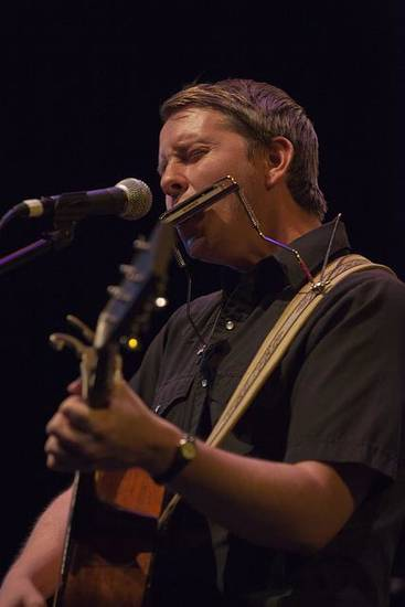 John Fullbright wows the sold-out crowd at UCO's MItchell Hall Theater.