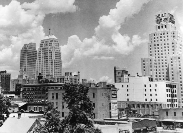OKLAHOMA CITY / SKY LINE / OKLAHOMA / 1941:  No caption.  Photo undated and unpublished.