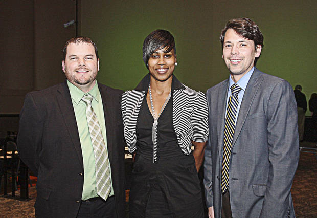 Justin Hunt, Candice Salters, Mylo Miller.  PHOTO BY DAVID FAYTINGER, FOR THE OKLAHOMAN