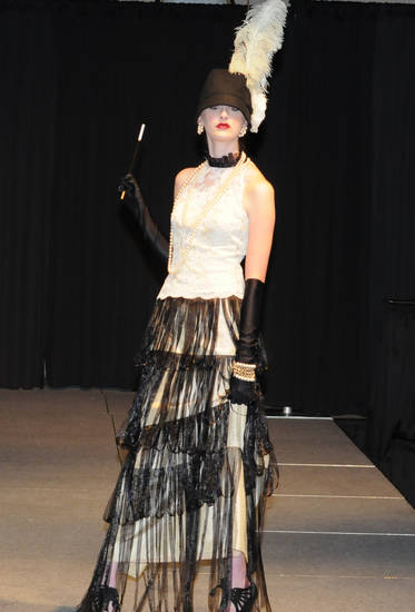 "For the 2010 Dallas Designers Display Competition ""Pick your own inspiration"" category, Stella Thomas took a cue from 1920s Coco Chanel. Photo provided. <strong></strong>"