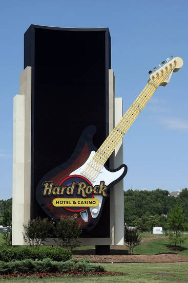 The main entrance to the Hard Rock Hotel and Casino in Tulsa. Photo by Hugh Scott, The Oklahoman ORG XMIT: KOD <strong>Hugh Scott</strong>