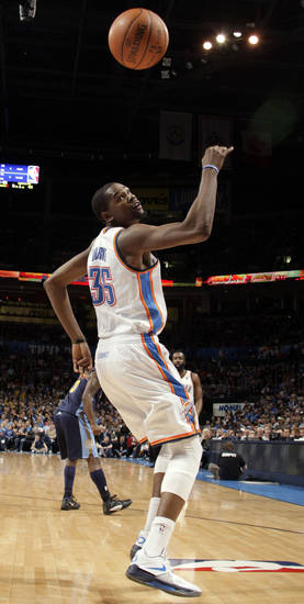 during the NBA basketball game between the Oklahoma City Thunder and the Denver Nuggets at the Chesapeake Energy Arena, Sunday, Feb. 19, 2012. Photo by Sarah Phipps, The Oklahoman