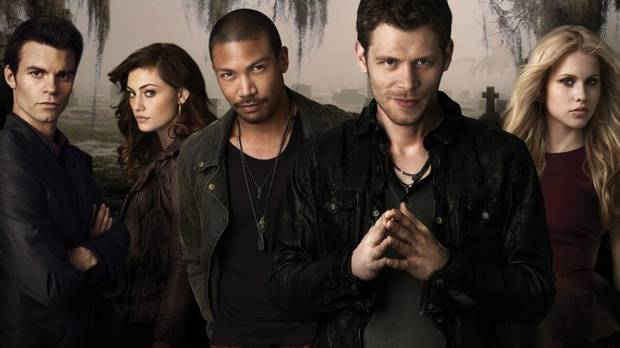 """THE ORIGINALS"": (L-R): Daniel Gillies as Elijah, Phoebe Tonkin as Hayley, Charles Michael Davis as Marcel, Joseph Morgan as Klaus, and Claire Holt as Rebekah -- Photo: Mathieu Young/The CW -- © 2013 The CW Network, LLC. All rights reserved."