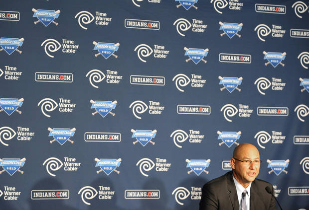 New Cleveland Indians manager Terry Francona speaks during a news conference at Progressive Field Monday, Oct. 8, 2012 in Cleveland. (AP Photo/David Richard)