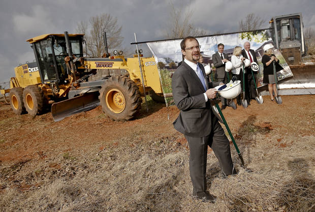 Oklahoma City Zoo Executive Director Dwight Scott speaks during the groundbreaking for the Oklahoma City Zoo�s new Joan Kirkpatrick Animal Hospital. PHOTOS BY CHRIS LANDSBERGER, THE OKLAHOMAN