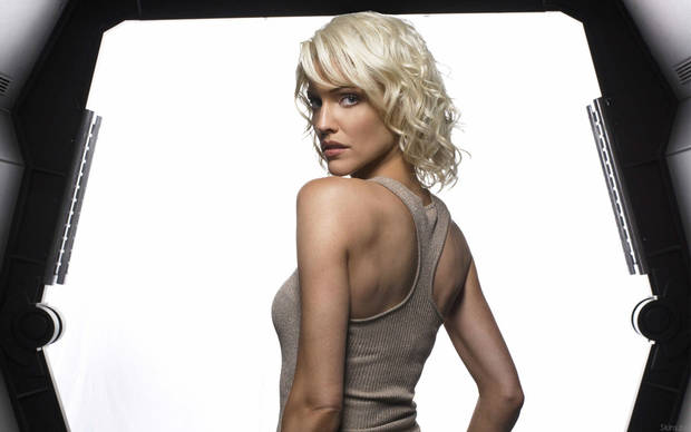 Tricia Helfer in &quot;Battlestar Galactica.&quot;