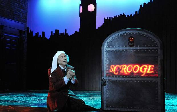 Jonathan Beck Reed as Scrooge in Lyric Theatre&#039;s performance of &quot;A Christmas Carol.&quot; Photo by Sprout Social Photos