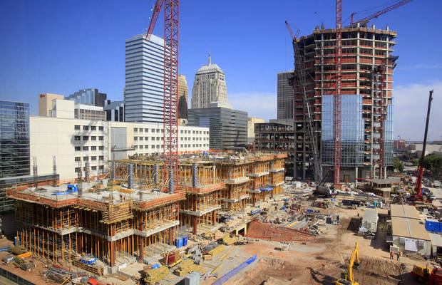 Devon tower construction in downtown Oklahoma City is shown Nov. 1. Photo by Paul B. Southerland, The Oklahoman
