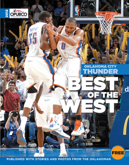"Pick up your OKC Thunder commemorative magazine ""Best of the West"" at all OKC metro-area OnCue Express stores. The magazine is free and is published with stories and photos from The Oklahoman."