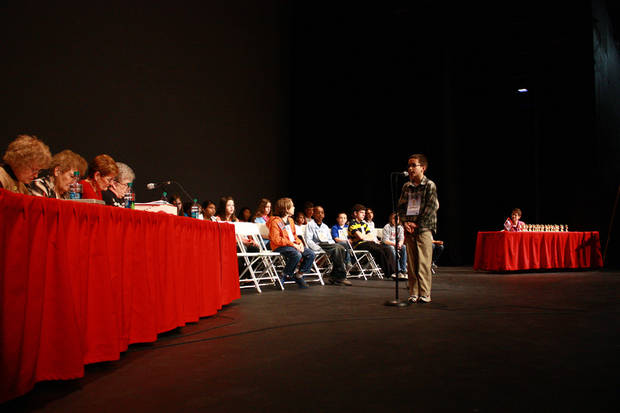 Forty fourth through eighth graders competed Saturday in the 2013 Central Oklahoma Spelling Bee Finals. The bee went 26 rounds and lasted nearly five hours.  <strong>By Lynette Lobban, For The Oklahoman</strong>