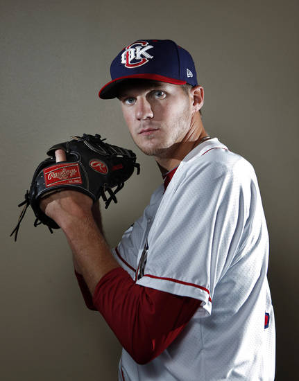 MINOR LEAGUE BASEBALL: Oklahoma City's Paul Clemens poses for a photograph during media day for the Oklahoma City Redhawks in Oklahoma City, Tuesday, April 3, 2012. Photo by Sarah Phipps, The OklahomanMINOR LEAGUE BASEBALL: