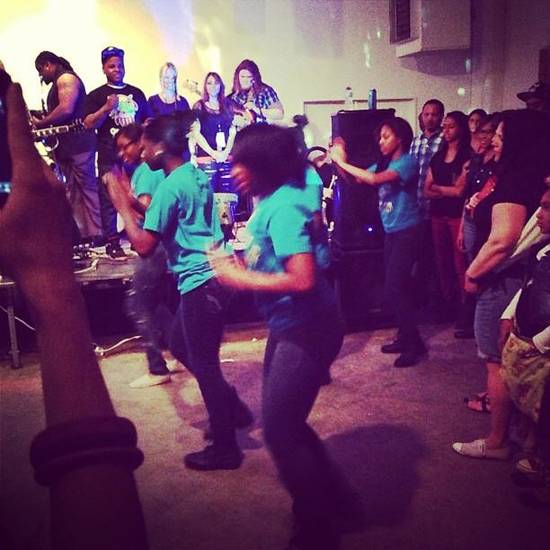 Stompin' for Jabee at @stashgoods #nmf6 (From Statigram.com)