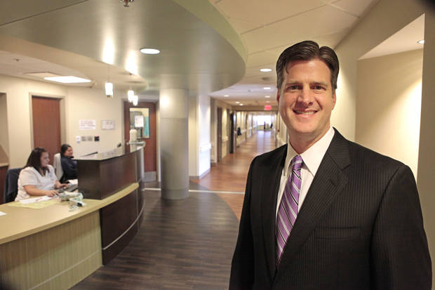 Michael Beaver the new president of St. Anthony Hospital, Monday, October 15, 2012. Photo By David McDaniel/The Oklahoman