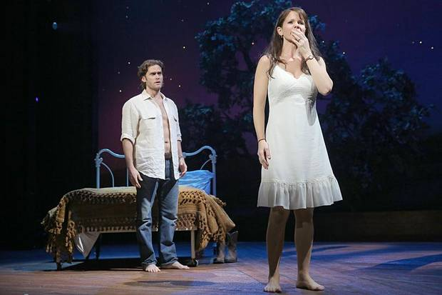 "Steven Pasquale and Oklahoma native Kelli O'Hara co-star in the musical ""The Bridges of Madison County."""