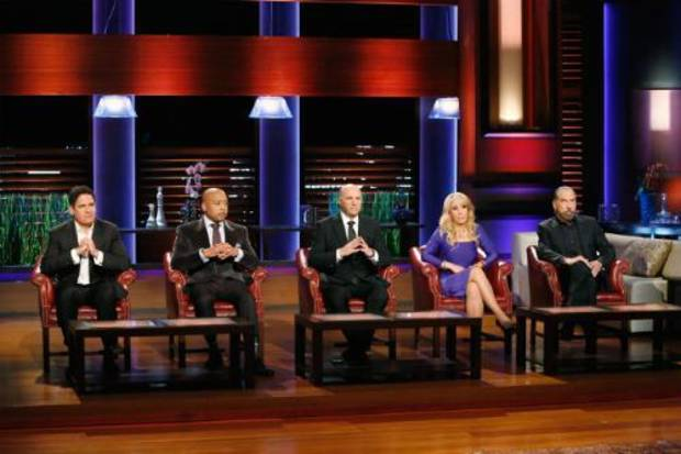The Sharks, from left: MARK CUBAN, DAYMOND JOHN, KEVIN O'LEARY, LORI GREINER, JOHN PAUL DeJORIA; photo courtesy of ABC.  (PRNewsFoto/John Paul Mitchell Systems)