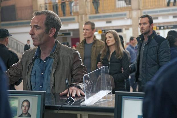 "From l to r: Robson Green, Philip Winchester, Catherine Walker and Sullivan Stapleton in Cinemax's hit action series ""Strike Back."" - Photo by Liam Daniel/Cinemax"