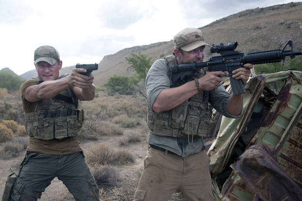 "From left, Philip Winchester Sullivan and Stapleton star in ""Strike Back."" - Cinemax Photo"