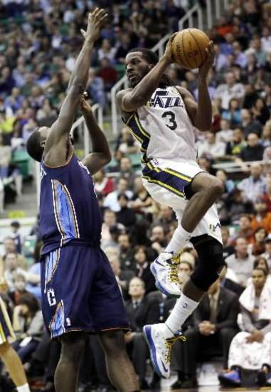 Utah Jazz's DeMarre Carroll. (AP Photo/Rick Bowmer)