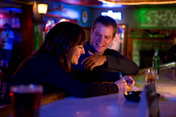 "Rosemarie DeWitt and Matt Damon in a scene from ""Promised Land,"" a drama about a small town divided over the environmental issue of ""fracking."" FOCUS FEATURES PHOTO <strong></strong>"