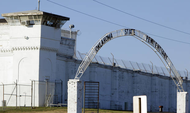A view of the sign over the entrance to the Oklahoma State Penitentiary in McAlester, Okla., Wednesday, Dec. 7, 2011. Photo by Nate Billings, The Oklahoman