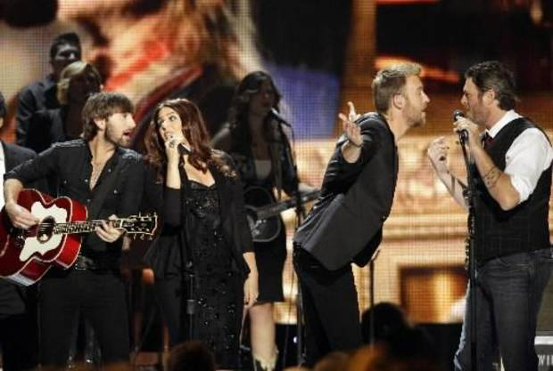 Lady Antebellum and Shelton perform during a special tribute to Willie Nelson.