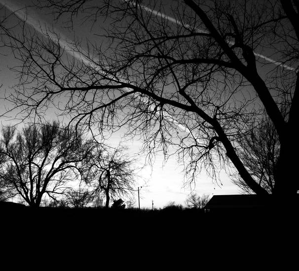 Black and White Sunset from 1-3-12