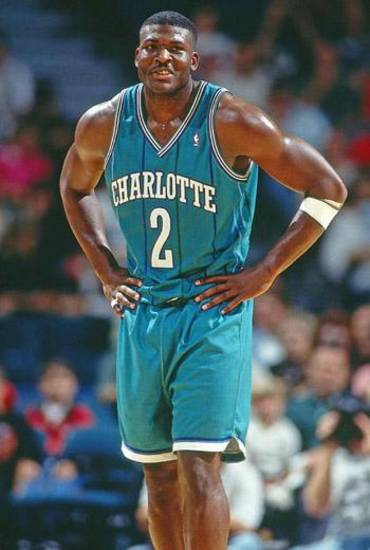 Larry Johnson with the Charlotte Hornets