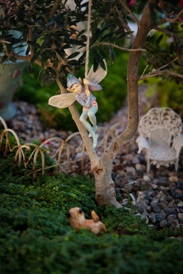 "Miniatures from a fairy garden, pictured in ""Fairy Gardening"" by Julie Bawden-Davis and Beverly Turner. Photo provided."