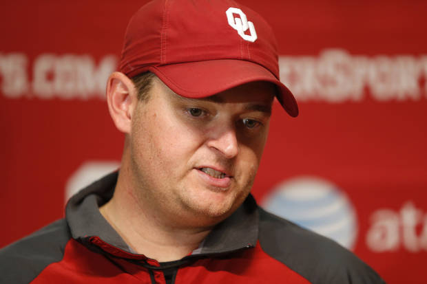 University of Oklahoma co-offensive coordinator Josh Heupel talks after an OU college football practice in Norman, Okla., Tuesday, August 7, 2013.  Photo by Bryan Terry, The Oklahoman