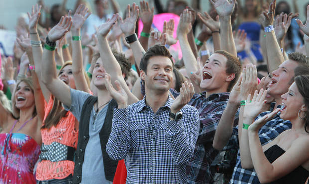 Ryan Seacrest at the American Idol auditions at the Chesapeake Energy Arena in downtown Oklahoma City, Friday, July 20 , 2012. Photo By David McDaniel/The Oklahoman