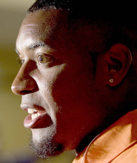 Andre Sexton likes playing for defensive coordinator Bill Young. Photo by Bryan Terry, The Oklahoman