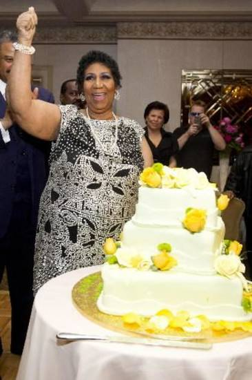 Aretha Franklin celebrates her 70th birthday,