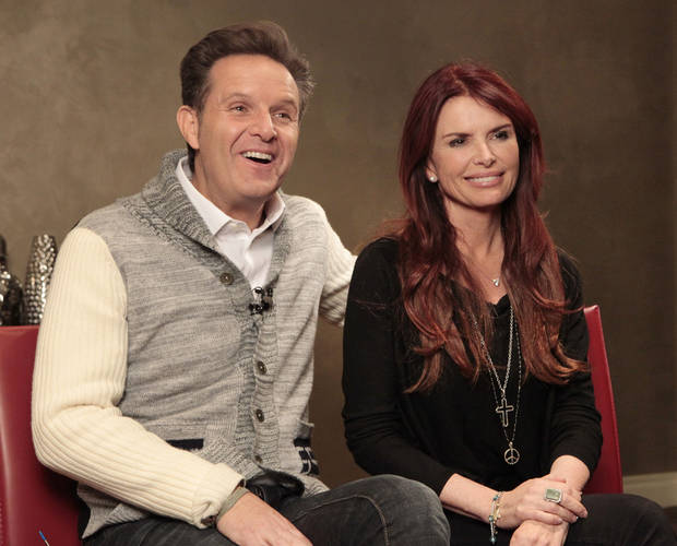 "Mark Burnett and Roma Downey talk about their new TV series on the History Channel called ""The Bible"" during a visit to Edmond-based LIfeChurch.tv. Photo By David McDaniel, The Oklahoman <strong>David McDaniel</strong>"