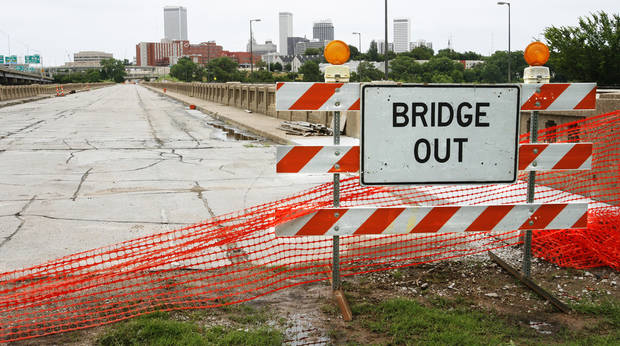 The old 11th street bridge that used to be a part of Route 66 in Tulsa, Okla., on Wednesday, June 20, 2007. By James Plumlee, The Oklahoman.