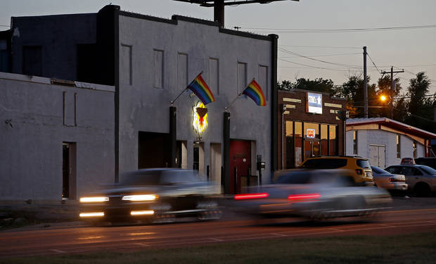 <p>The Phoenix Rising is one of several gay bars on NW 39 in Oklahoma City. [Photos by Bryan Terry, The Oklahoman]</p>