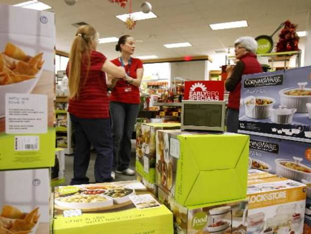 Shoppers look for bargains during early morning Black Friday shopping at the Kohl's store in Midwest City, OK, Friday, November 23, 2012, By Paul Hellstern, The Oklahoman