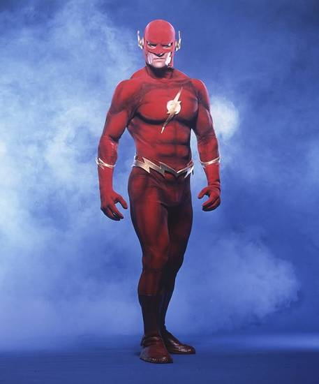 John Wesley Shipp as the Flash.