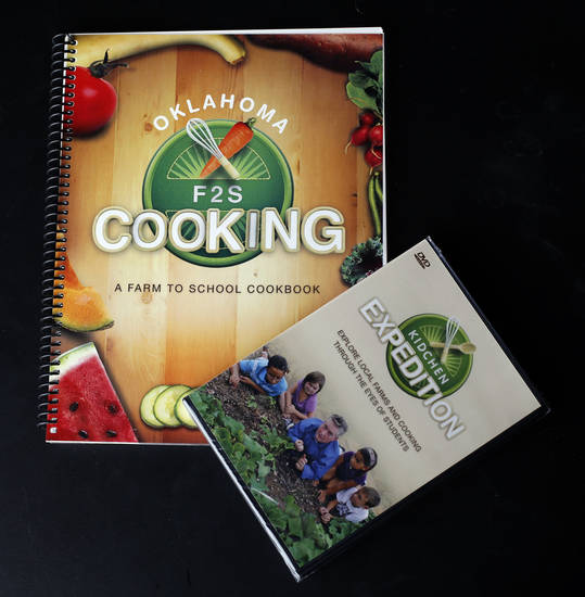 FARM TO FRESH: A cookbook is pictured at the OPUBCO studio in Oklahoma City, Tuesday, July 31, 2012. Photo by Sarah Phipps, The Oklahoman.